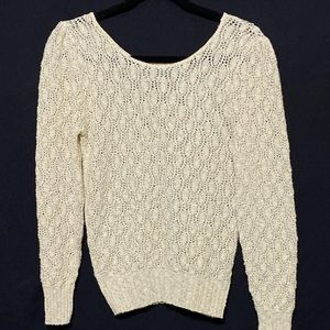 Jolie NY New York SM open knit sweater NWOT (E)